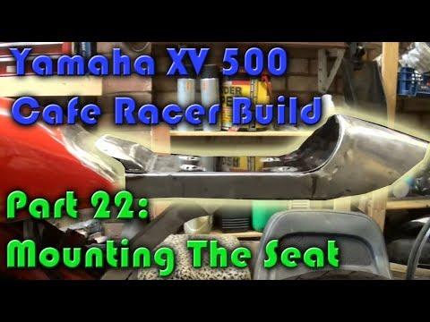 Cambridge Pinstriping, Yamaha XV 500 Cafe Racer Build, Part 22: Mountng the Seat