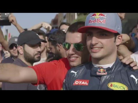 News cut - RedBull show run, Carlos Sainz - Beirut 2016