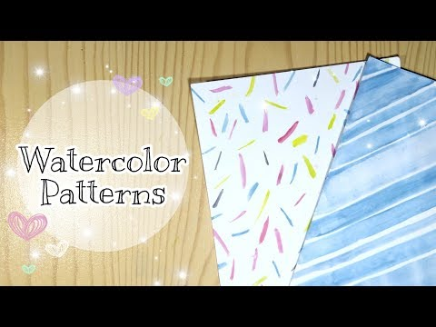 DIY WATERCOLOR Patterned Papers At Home | Scrapbook/Notebook Cover Deco | Decorative Paper