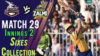 Peshawar ZalmiSixes | Peshawar Zalmi Vs lahore Qalandars| Match 29 | 16 March | HBL PSL 2018