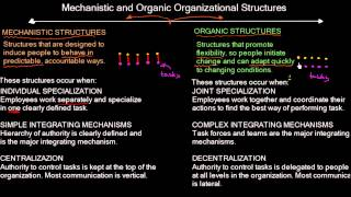 Mechanistic and Organic structure | Organizational Design | MeanThat