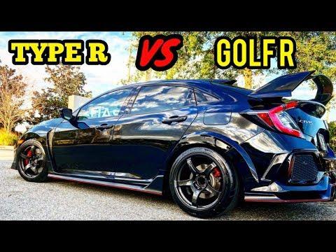 Honda Civic Type R Races Full Bolt On WRX & Golf R! + MORE RACING!