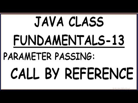 CALL BY REFERENCE WITH EXAMPLE  IN JAVA (HINDI)