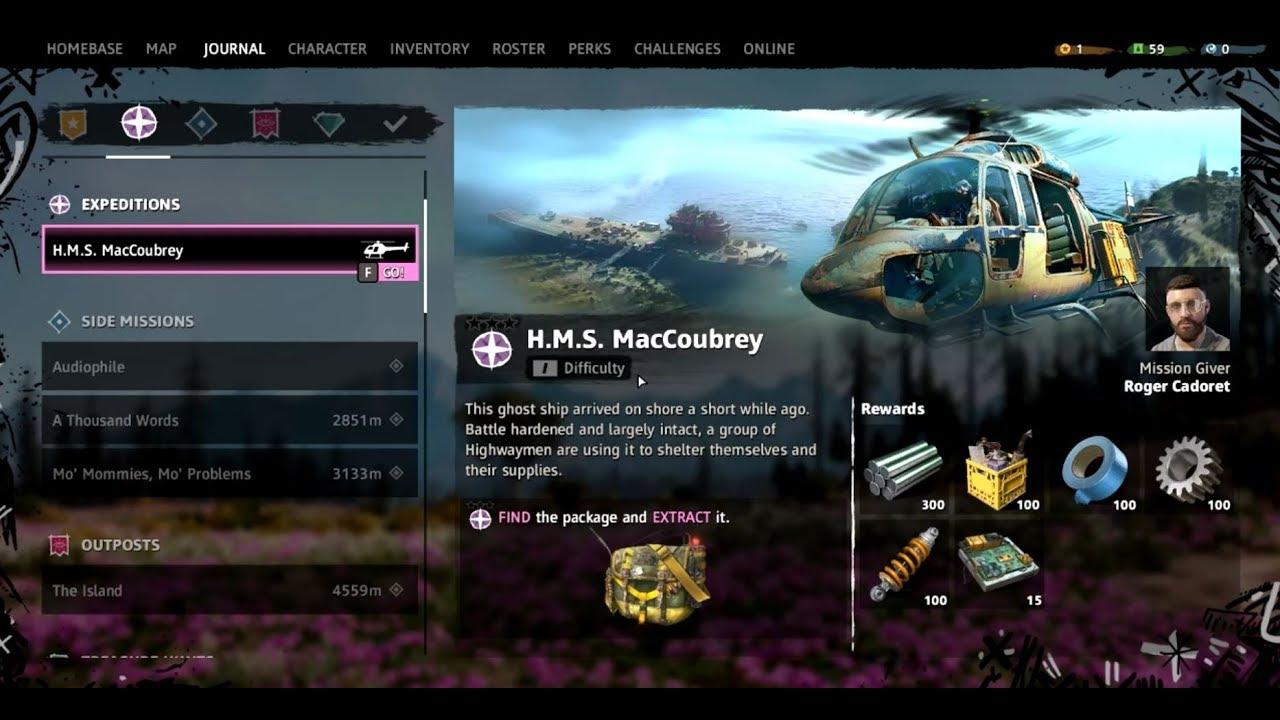 Far Cry New Dawn H M S Maccoubrey 1st Expedition Walkthrough No