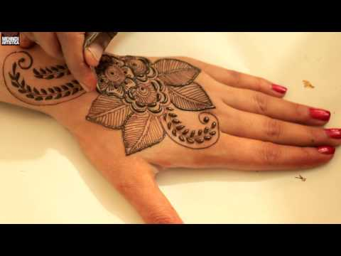 Leafy + Floral Henna Mehandi Designs Video | Learn How To Draw Mehndi Designs On Hands 2017