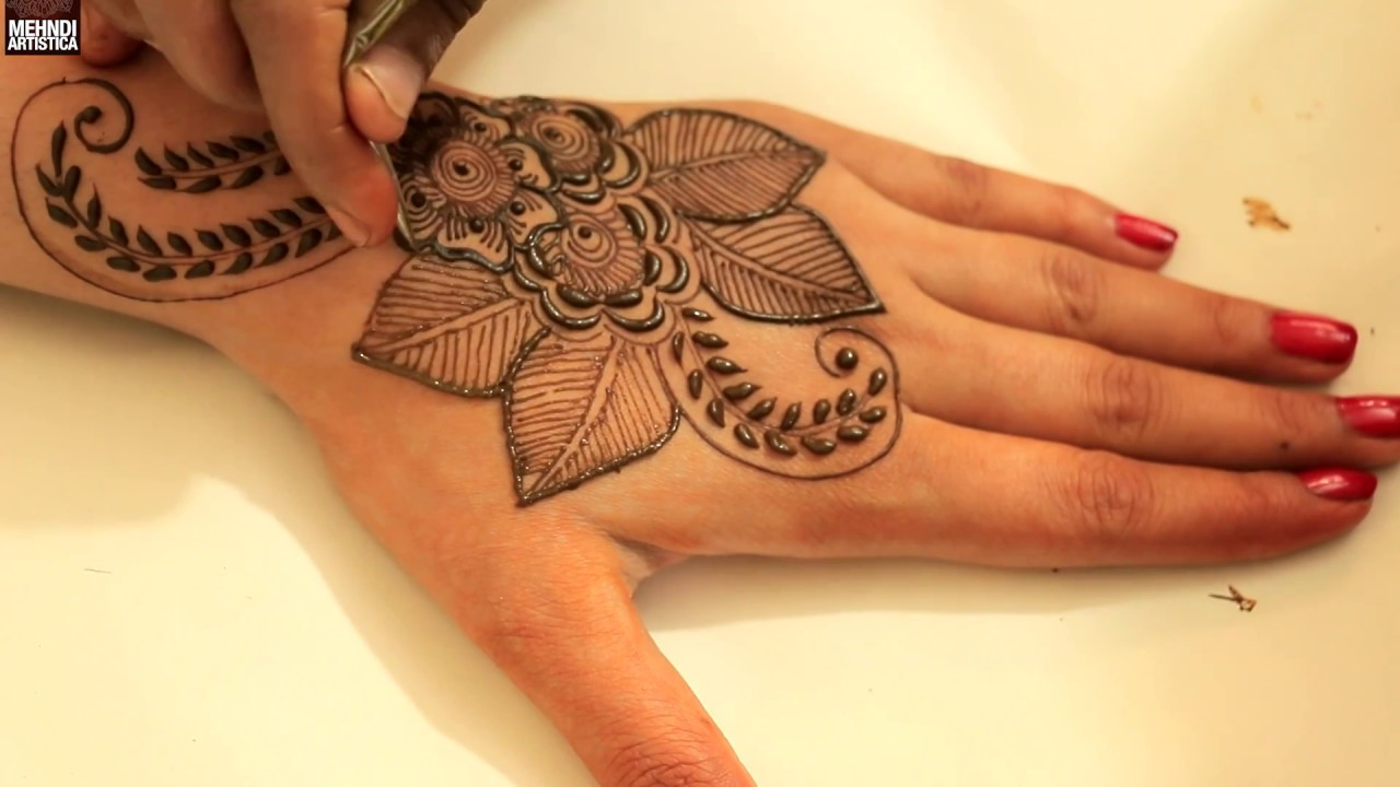 Leafy Floral Henna Mehandi Designs Video Learn How To Draw