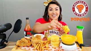 Popeyes Fried Chicken Eating Show (MUKBANG) | WATCH ME EAT