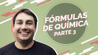 | Live | Fórmulas de Química para o Enem (parte 3) | Prof. Luiz Cláudio