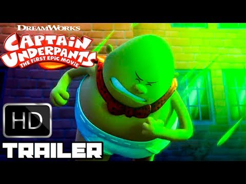 Thumbnail: Captain Underpants All New Clips & Trailers (2017) Animated Movie HD