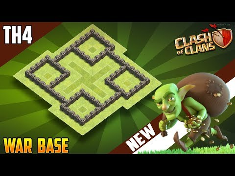 New BEST TH4 TROPHY/WAR Base 2018!! COC Town Hall 4 (TH4) War Base Design - Clash of Clans