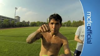 MCFC TRAINING GoPro Style: See it from Tevez, Hart and Nasri point of view