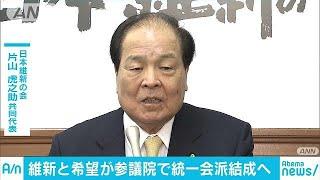 日本維新の会、希望の党 参院で統一会派結成へ(18/12/19)