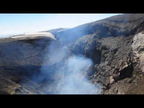 Villarica volcano crater