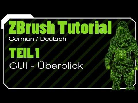 ZBrush Tutorial German Deutsch Teil1 - GUI Überblick