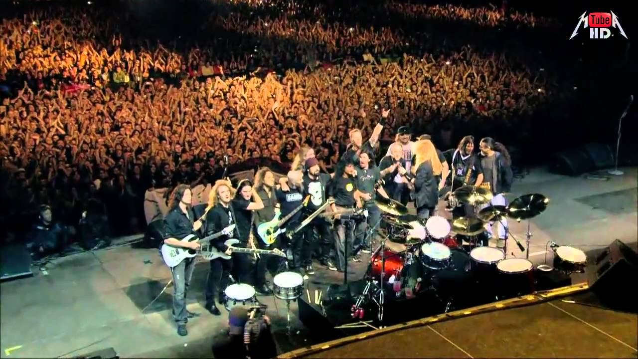 MetallicA - Big 4 HD 1280 x 720 Medley - (Am I evil - Hit The Lights - Seek And Destroy) - PART ...