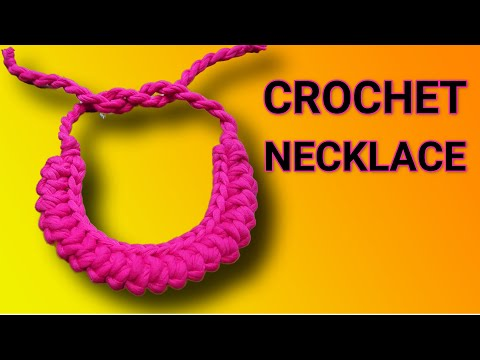 CROCHET: DIY ROMANIAN CORD NECKLACE | FABRIC NECKLACE TUTORIAL | CROCHET NECKLACE