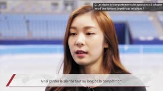 (FRA) Interview de KIM Yuna, championne olympique et ambassadrice de PyeongChang 2018