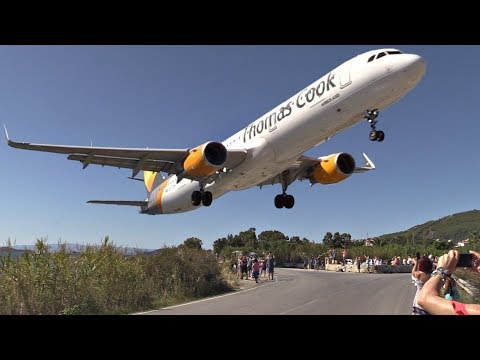 Thomas Cook A321-211 Powerful GO AROUND at Skiathos Airport | Low Aborted Landing [w/ ATC Comms ]
