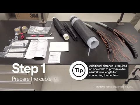 How to install a medium voltage splice with shearbolts