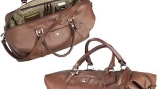 Custom Logo Cutter and Buck Leather Duffel Weekend Bag
