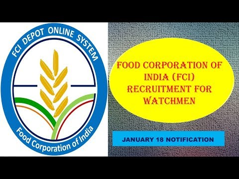 Food Corporation of India (FCI) Recruitment for the post of Watchmen in Gujarat