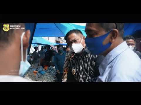 Bupati Dairi Sidak Harga Bahan Pokok Jelang Idul Fitri Di Pasar Tigalingga