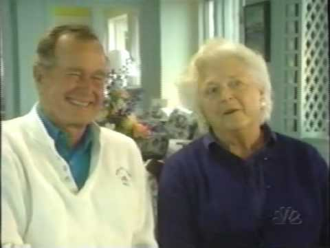 George & Barbara Bush Blooper