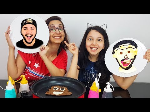 DESAFIO ARTE NA PANQUECA 2 (Pancake Art Challenge) | Luluca