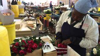 Packing of David Austin Roses in the Tambuzi Farm in Kenya