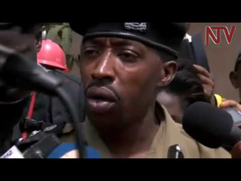 Emillian Kayima, spokesperson for Kampala Metropolitan police, addresses media on Kaweesi murder