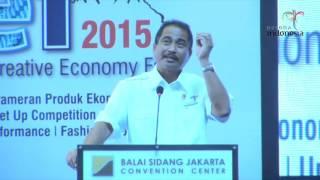 Pidato Menteri Pariwisata, Arief Yahya di Indonesia Tourism dan Creative Economy Fair