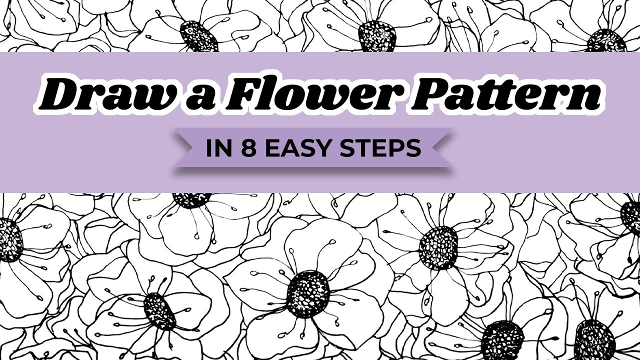 How to draw a flower pattern in 8 easy steps youtube how to draw a flower pattern in 8 easy steps thecheapjerseys Choice Image