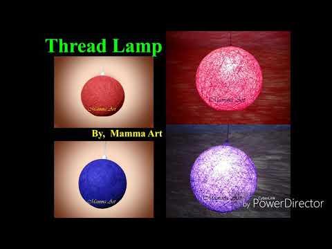 Diwali Decoration Ideas    Thread Lamp    Night Lamp    DIY Lamp    Night    Room Decoration