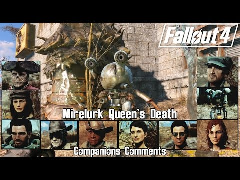 Fallout 4 - Retaking The Castle and Death of The Mirelurk Queen [ Companions Comments ]