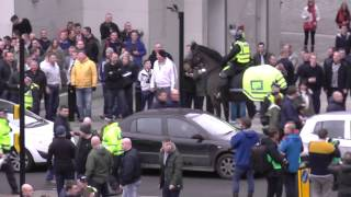 Fisty Cuffs Between Rival Fans Before Newcastle 0 1 Sunderland 21 12 2014