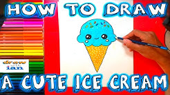 How to Draw a Cute Ice Cream - Easy things to Draw