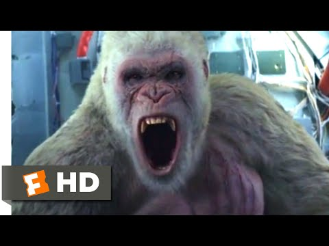 Rampage (2018) - Gorilla Vs. Airplane Scene (4/10) | Movieclips