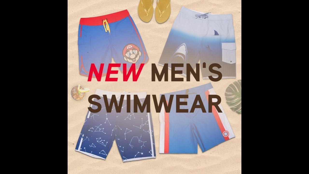 8a473b29ad Men s Board Shorts and Classic Trunks from ThinkGeek - YouTube
