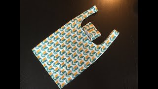MAKE A TOTE BAG - THAT FOLDS INTO A POCKET! - Pattern & step by step instructions
