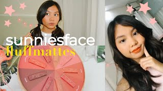 SUNNIES FACEFLUFFMATTE REVIEW + SWATCHES!! ♡ Sugar Dc
