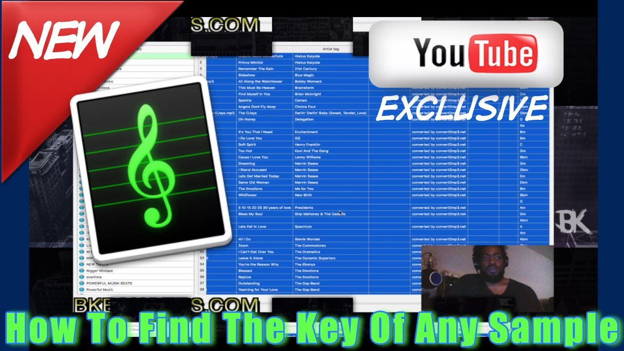 How to use Keyfinder app to find the root key of any sample - YouTube