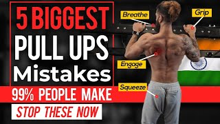 5 Biggest PULL UP MISTAKES | How To Do More Pullups Reps for Beginners (Perfect Technique)