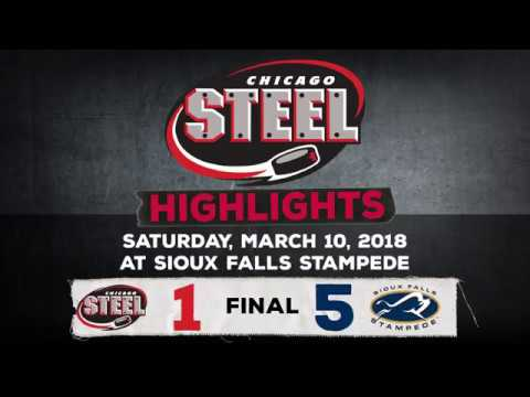Chicago Steel at Sioux Falls Stampede (March. 10, 2018)