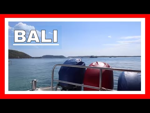 Bali Indonesia and getting to Nusa Penida Island by boat from Sanur