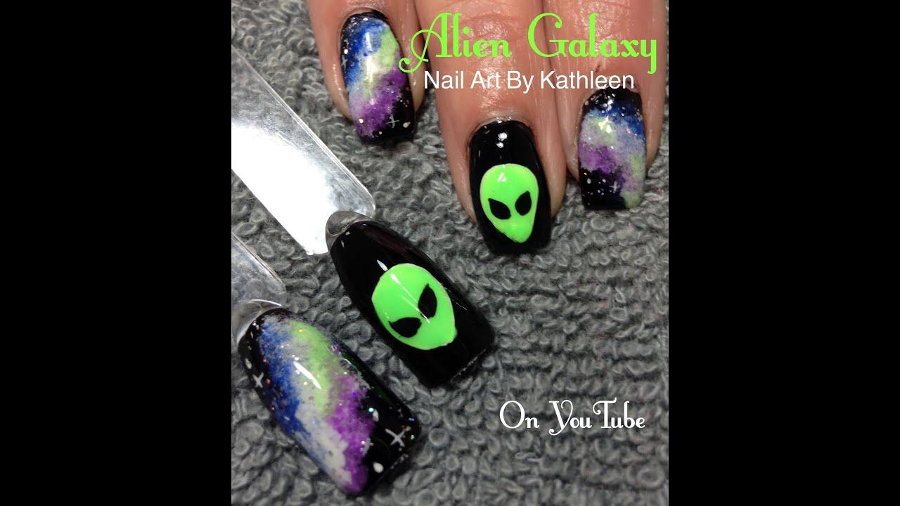 Alien Galaxy Nail Art Youtube