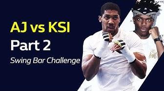ANTHONY JOSHUA vs KSI Part 2: Swing Bar Challenge | William Hill Boxing