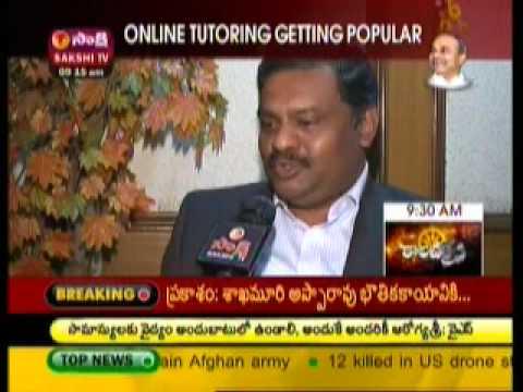 Smartlinx Livetutor on Sakshi TV