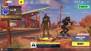 Enforcer skin glitch in fortnite with The Robot emote