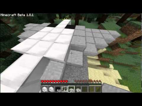 how to make a working plane in minecraft