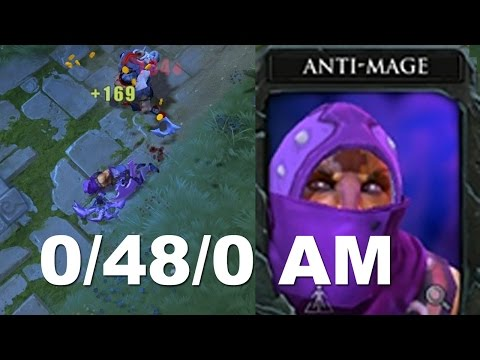 0/48/0 Tryhard Feeding Antimage goes wrong 6000 MMR | NFUA